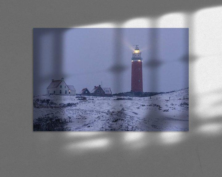 Impression: L'hiver sur le phare de Texel Eierland sur Texel360Fotografie Richard Heerschap