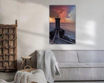 Vuurtoren van Kermorvan in onweersbuien van Tilo Grellmann | Photography