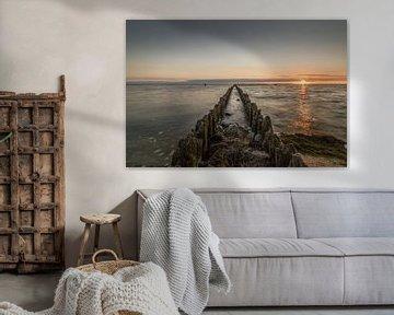 Zonsondergang in Hindeloopen van Marian van der Kallen Fotografie