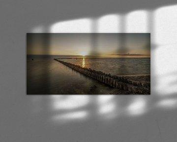 Mooie Zonsondergang in Hindeloopen van Marian van der Kallen Fotografie