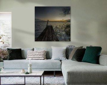 Zonsopkomst bij aanlegsteiger van Marian van der Kallen Fotografie