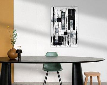 Abstrakte Malerei Nr. 50 | silber von Melanie Viola