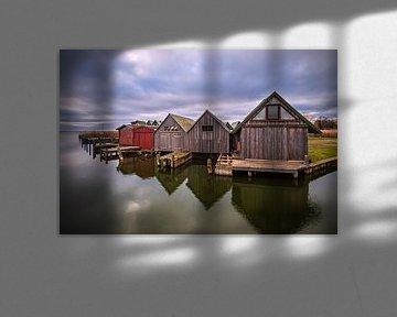 Bootshäuser im Hafen von Althagen auf dem Fischland-Darß von Rico Ködder