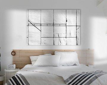 Linien in Schwarz und Weiß von Wim Stolwerk
