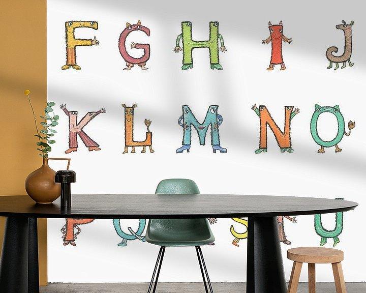 Beispiel fototapete: Fröhliche Buchstaben - ABC von Atelier BuntePunkt
