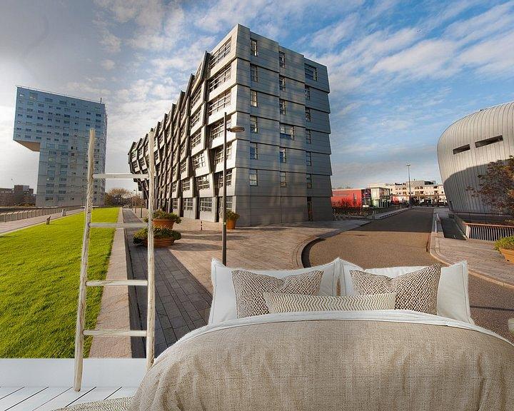 Sfeerimpressie behang: Almere Architectuur van Brian Morgan