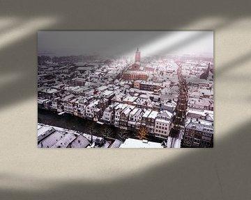 Winters Gorinchem von oben. von Marleen Kuijpers