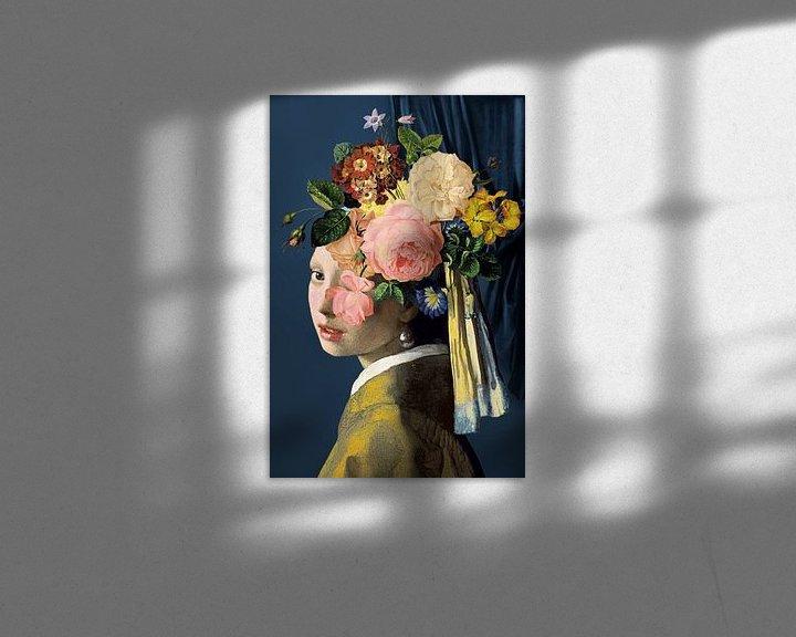 Beispiel: Meisje Met de Parel – The Floral on Blue Edition von Marja van den Hurk