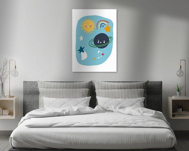 Beispiel: Planeten Illustration Kinderzimmer von Jolijn Ceelen
