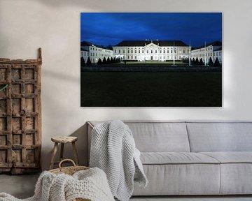 Bellevue Palace op het blauwe uur van Frank Herrmann