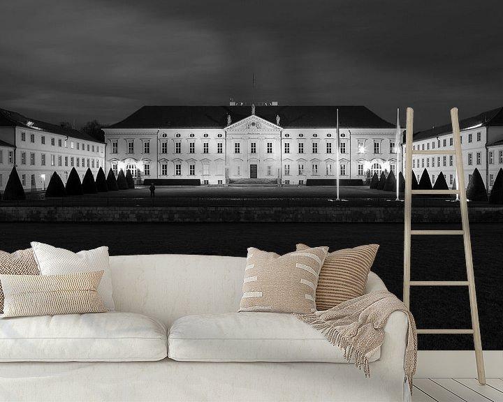 Impression: Le château de Bellevue en noir et blanc sur Frank Herrmann