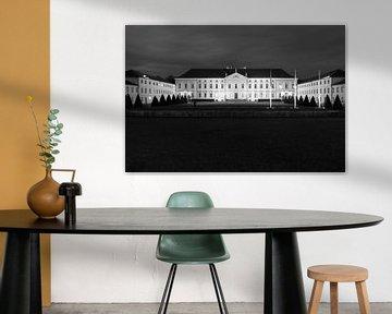 Kasteel Bellevue zwart-wit van Frank Herrmann