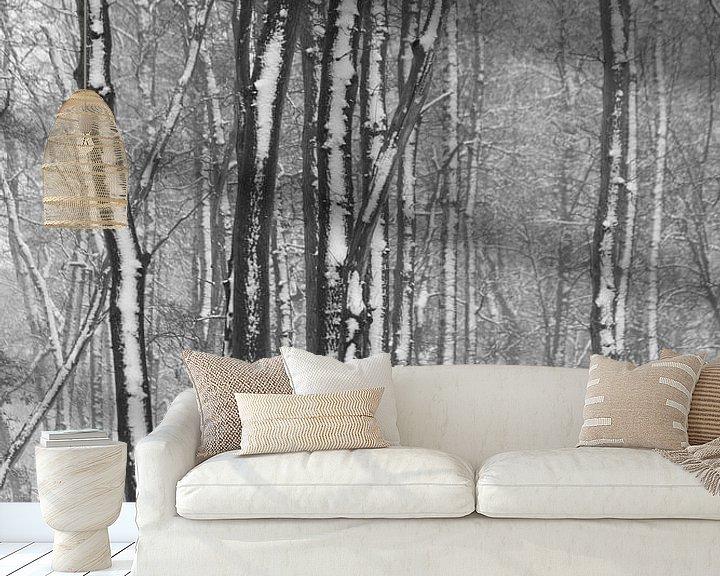 Sfeerimpressie behang: contrast van hanny bosveld