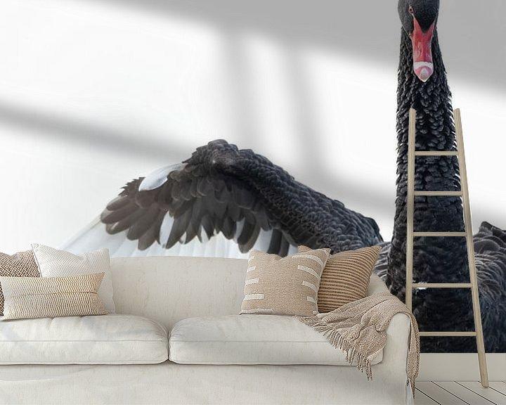 Sfeerimpressie behang: Zwarte Zwaan van Sander Meertins