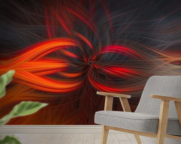Sfeerimpressie behang: Abstract vierkant 2 van Leo Luijten