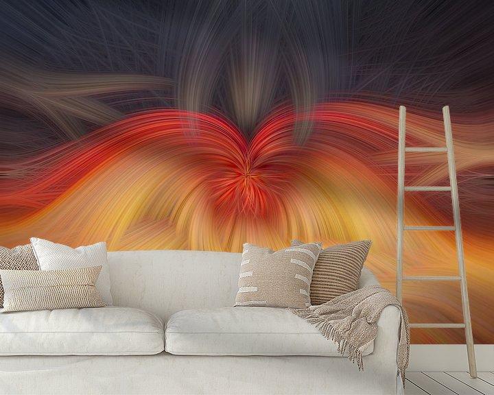 Sfeerimpressie behang: Abstract vierkant 3 van Leo Luijten