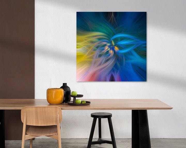 Sfeerimpressie: Abstract vierkant 5 van Leo Luijten