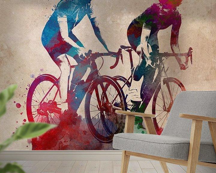 Beispiel fototapete: Radsport Fahrradsport Kunst von JBJart Justyna Jaszke