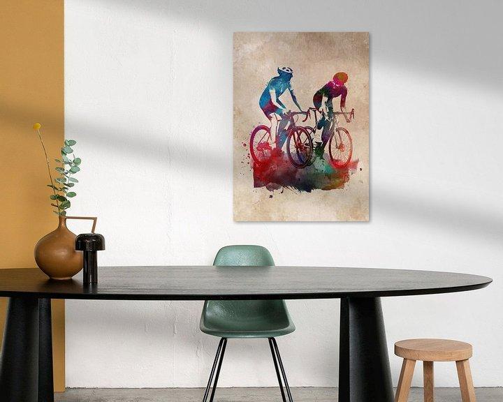 Beispiel: Radsport Fahrradsport Kunst von JBJart Justyna Jaszke