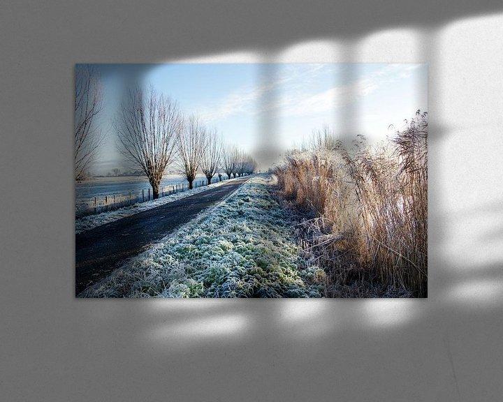 Sfeerimpressie: Winters polderlandschap van Annieke Slob