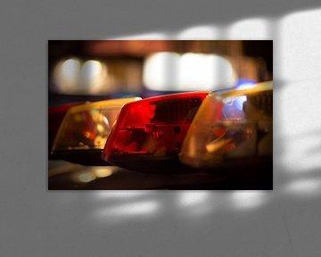 Politie zwaailicht (New York City) van Marcel Kerdijk
