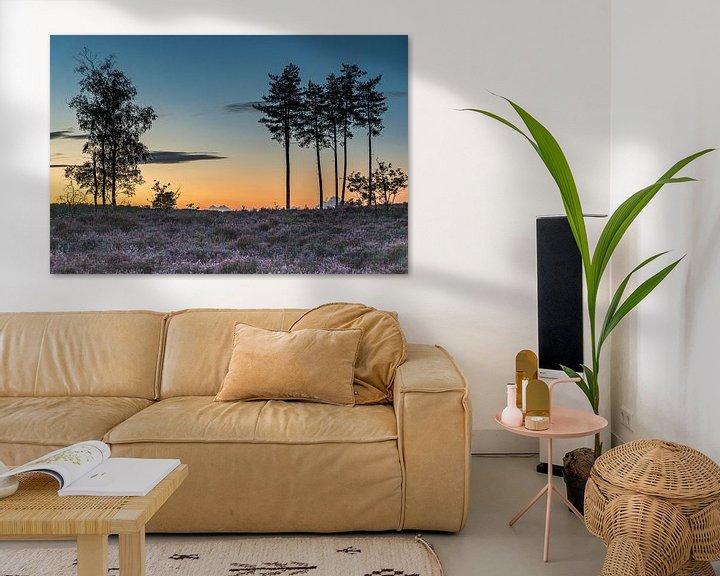 Sfeerimpressie: Zonsondergang bij natuurgebied Den Treek in Leusden van Karin Riethoven