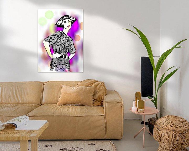 Beispiel: Pop Style Modeillustration von Janin F. Fashionillustrations