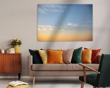 Wolken in het avondlicht van Percy's fotografie