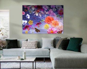 Lucht vol met bloemen van christine b-b müller