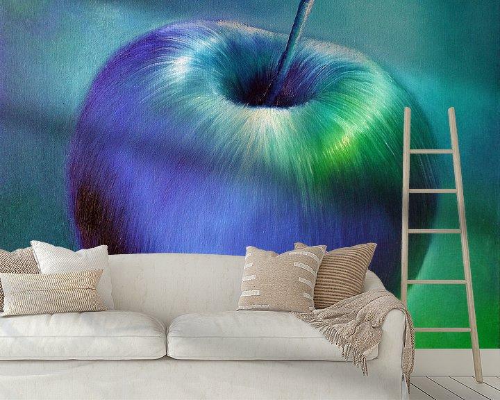 Beispiel fototapete: Blauer Apfel von Annette Schmucker