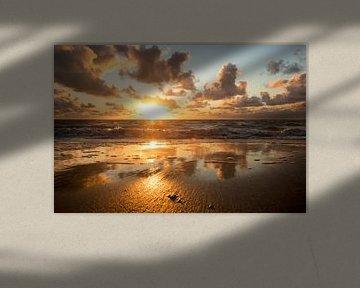 Ein sommerlicher Sonnenuntergang auf Schiermonnikoog von Karijn | Fine art Natuur en Reis Fotografie