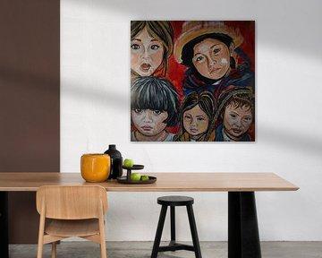 Les enfants du monde en couleur sur Marielistic-Art