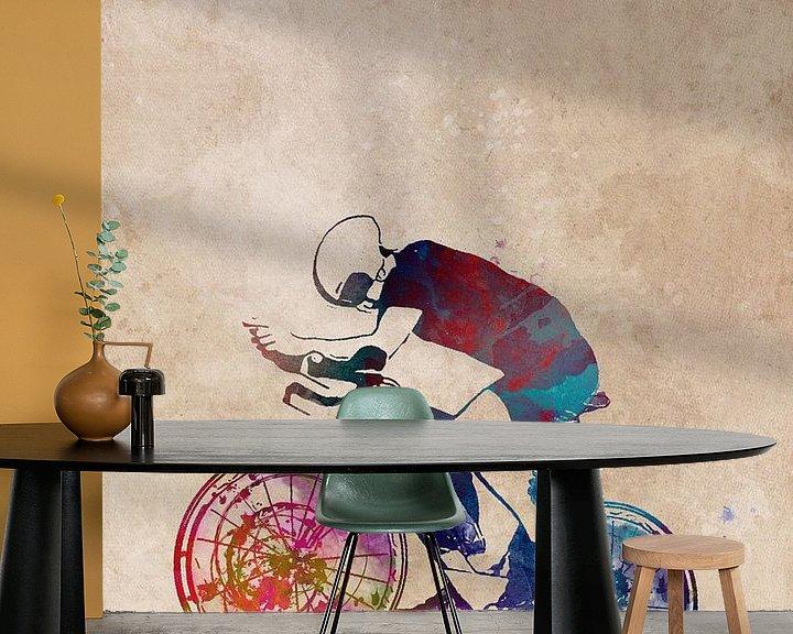 Beispiel fototapete: Radfahren Fahrrad Sport Kunst #Radfahren #Fahrrad von JBJart Justyna Jaszke