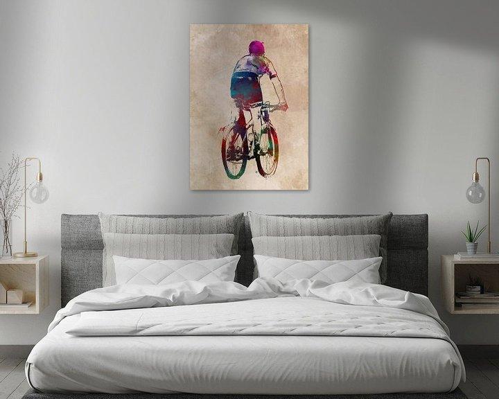Beispiel: Radfahren Fahrrad Sport Kunst #Radfahren #Fahrrad von JBJart Justyna Jaszke