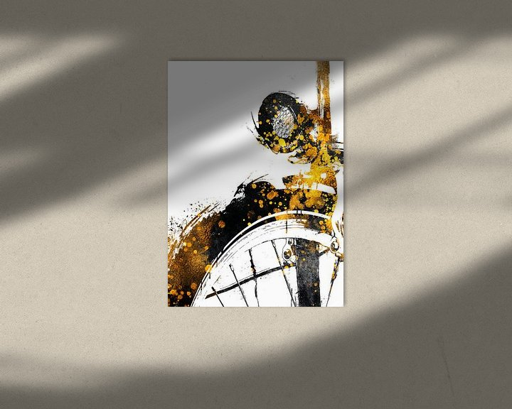 Beispiel: Radfahren Fahrrad Sport Kunst Gold und schwarz #cycling #bike von JBJart Justyna Jaszke