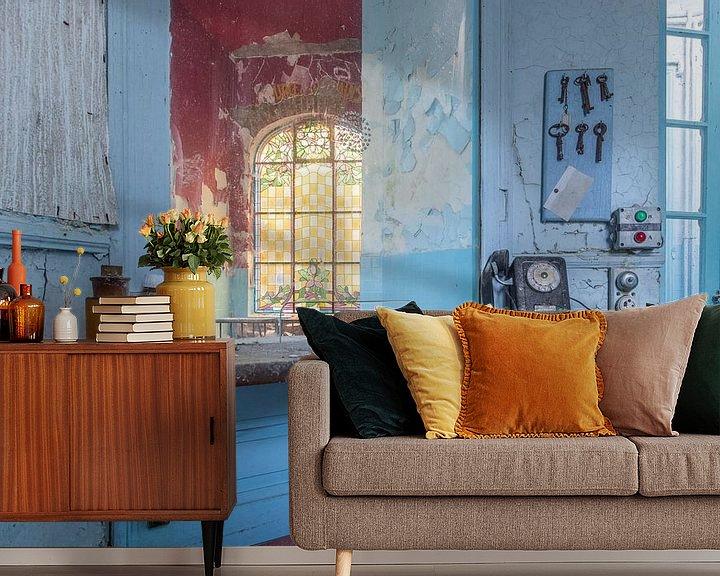 Sfeerimpressie behang: De balie van William Linders