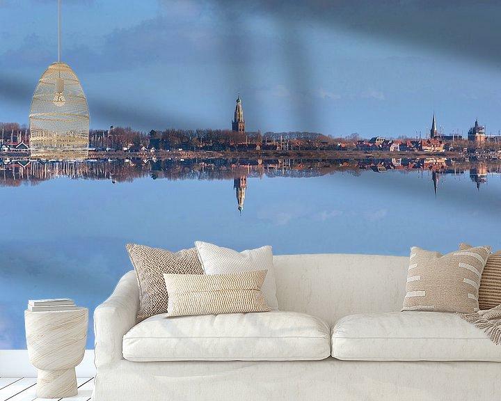 Sfeerimpressie behang: Skyline Enkhuizen van Brian Morgan