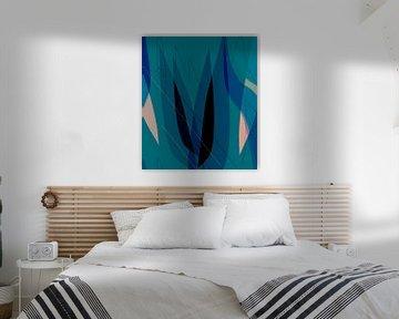 Abstracte tulpen van Kay Weber