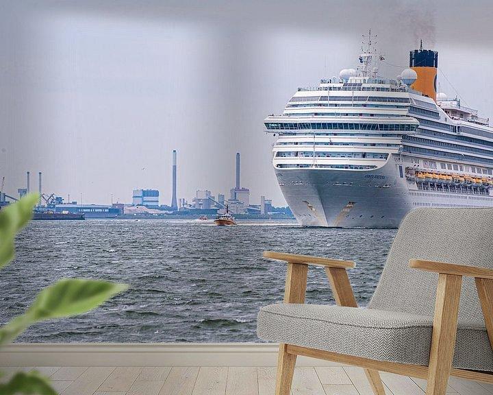Sfeerimpressie behang: Cruiseship Costa Fortuna van Brian Morgan