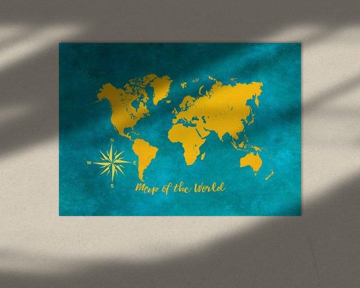 Beispiel: Weltkarte 2 #Karte #Weltkarte von JBJart Justyna Jaszke