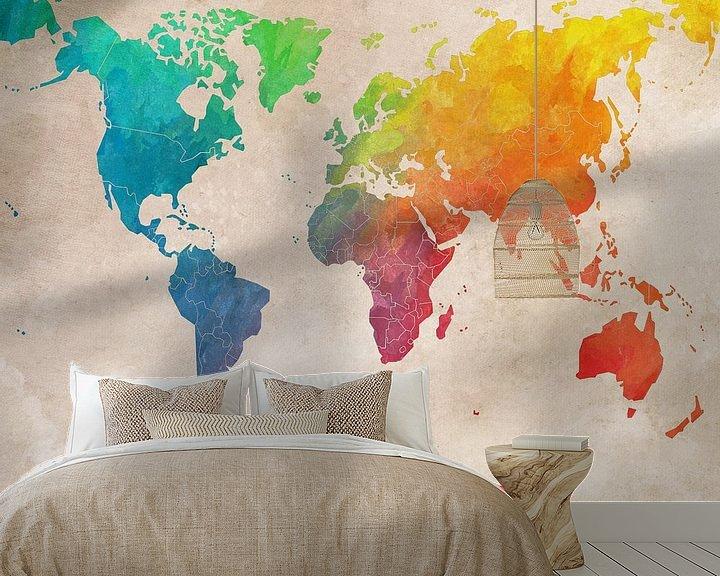 Beispiel fototapete: Weltkarte 3 #Karte #Weltkarte von JBJart Justyna Jaszke