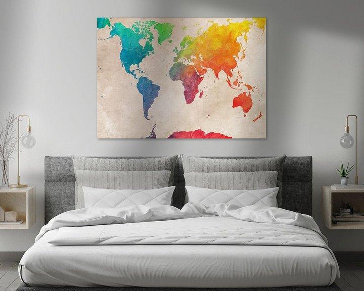 Beispiel: Weltkarte 3 #Karte #Weltkarte von JBJart Justyna Jaszke