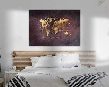 Wereldkaart 16 #kaart #wereldkaart van JBJart Justyna Jaszke