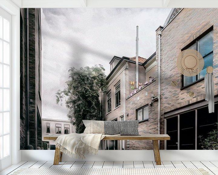 Sfeerimpressie behang: Amersfoort -9 van Dick Jeukens