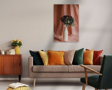 Hortensia roze achtergrond van Diewke Eerdekens