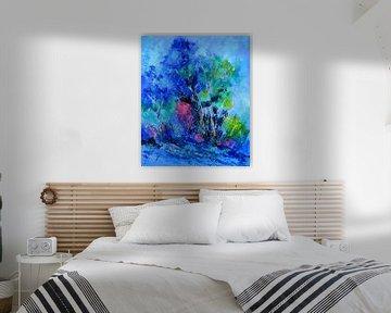 Blauwe bomen van pol ledent