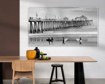 Huntington Beach Pier van Antoon van Osch