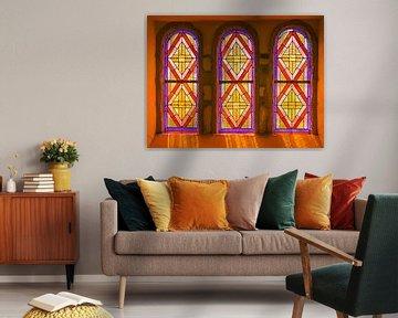 Kirchenfenster aus 'Buntglas'. von Bert de Boer