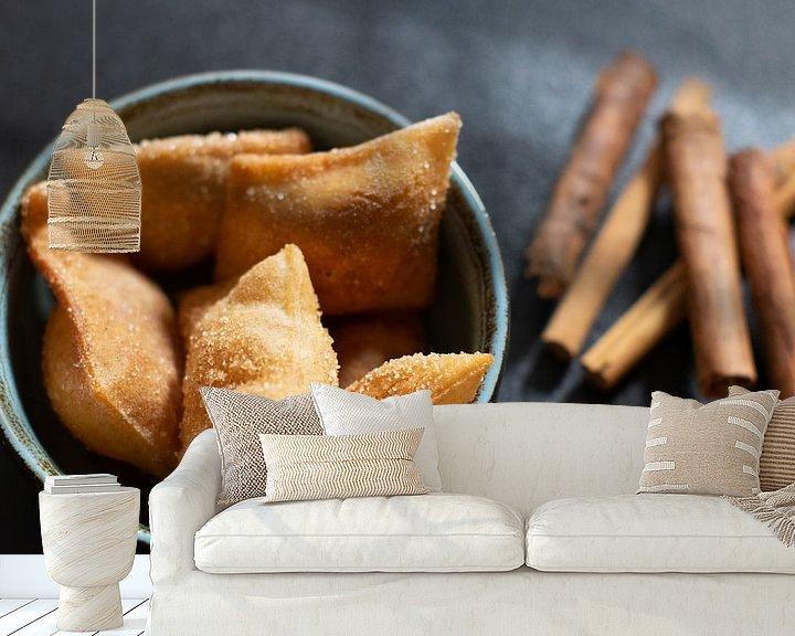 Beispiel fototapete: Süße italienische Delikatesse mit Zimt von Annemieke Glutenvrij