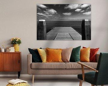 Steiger aan het IJsselmeer van Kenneth Stamp